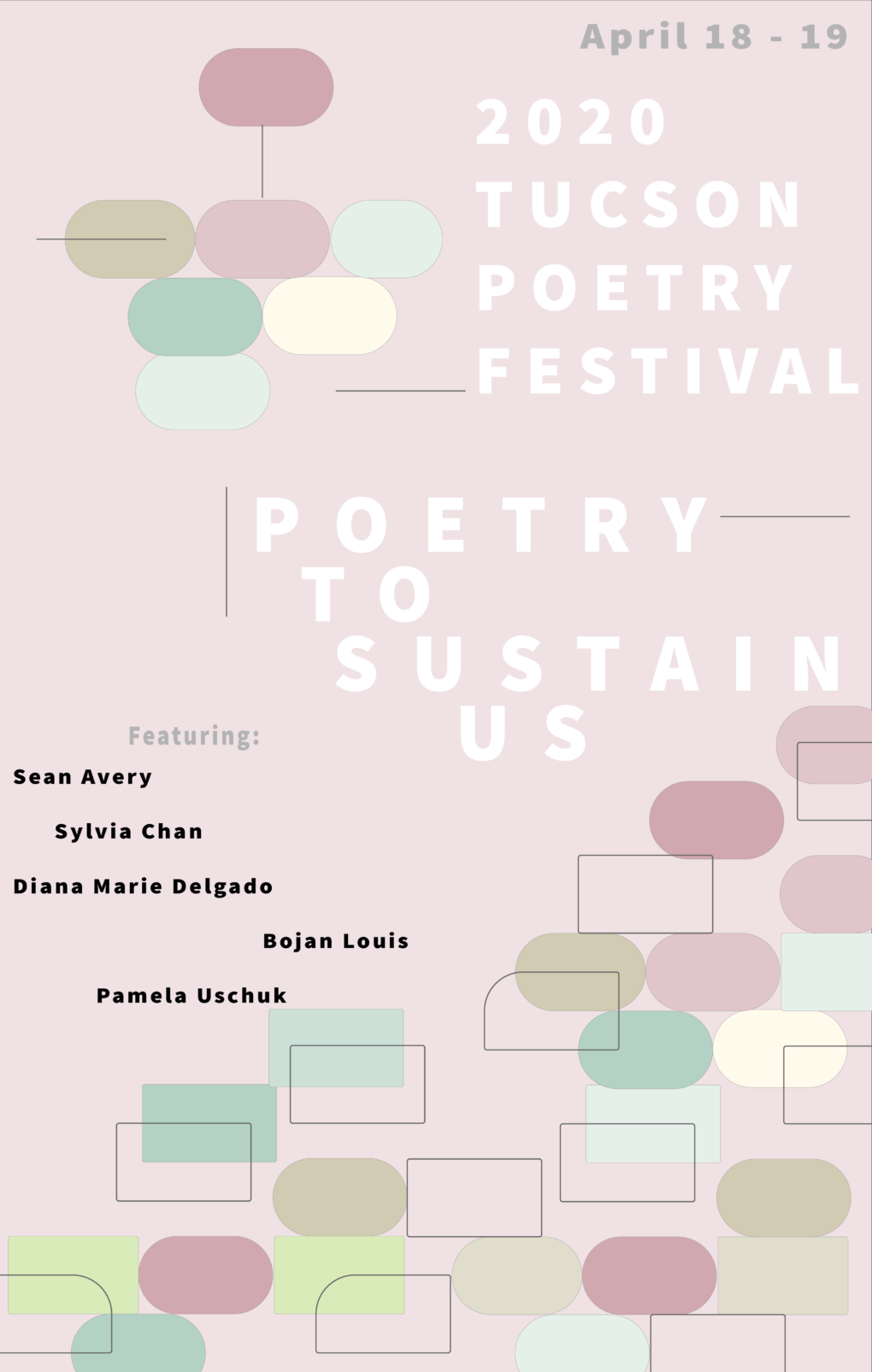2020 Tucson Poetry Festival - Poetry to Sustain Us- Featuring Sean Avery, Sylvia Chan, Diana Marie Delgado, Bojan Louis, Pamela Uschuk